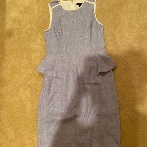J Crew Linen Peplum Dress